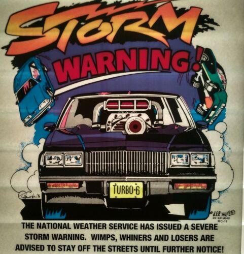 Rare Vintage Grand National STORM WARNING Iron On T-shirt Transfer  NOS