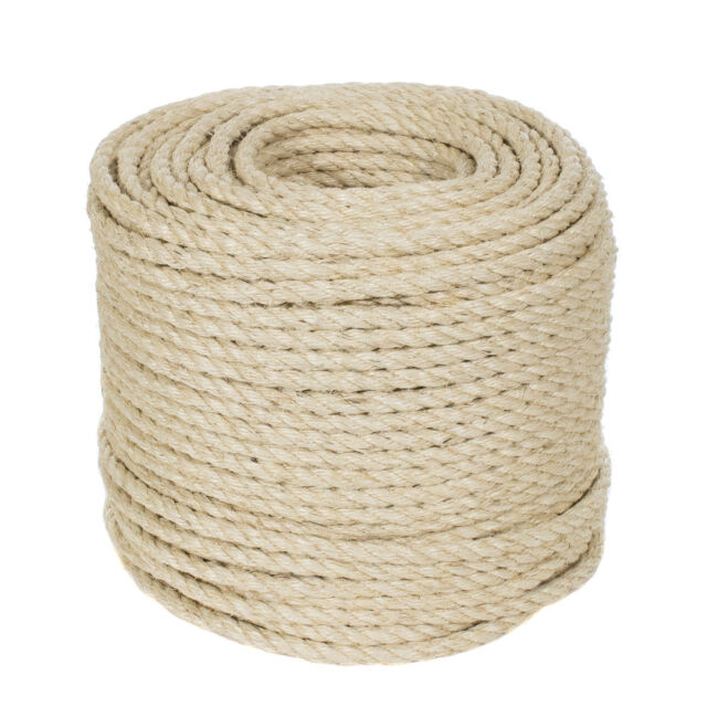 GOLBERG Twisted 100/% Natural Cotton Rope 1 Inch x 25 Feet White Cotton Rope