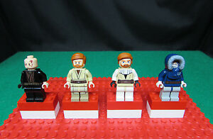 Lego-Star-Wars-amp-Clone-Wars-Minifigure-Lot-of-4-Anakin-Skywalker-Obi-Wan-Kenobi