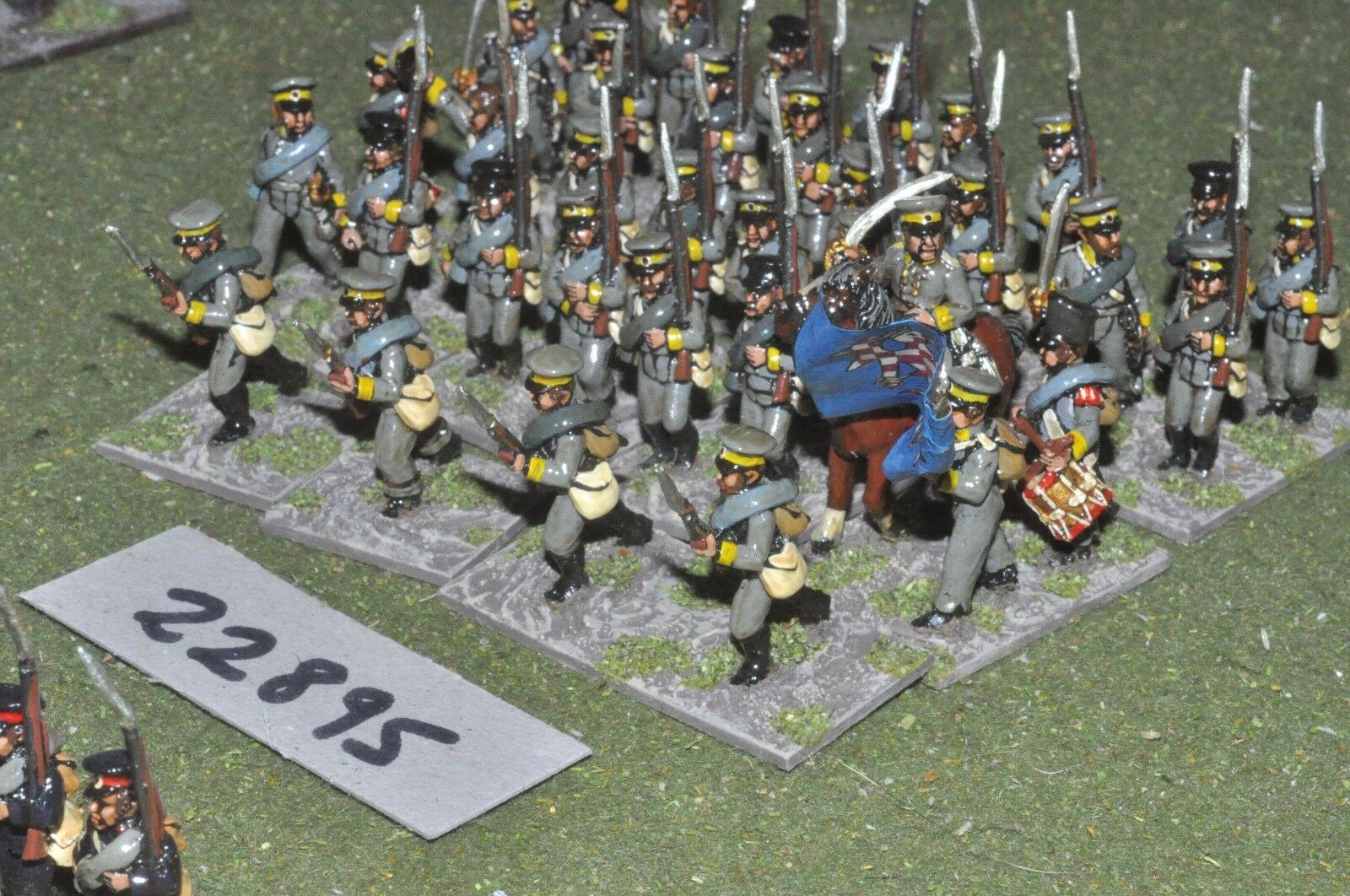 25mm napoleonic   prussian - lanwher 35 figures - inf (22895)