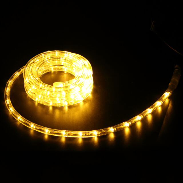 10ft Led Rope Light In Outdoor Home Party 110v Christmas Decoration Warm White