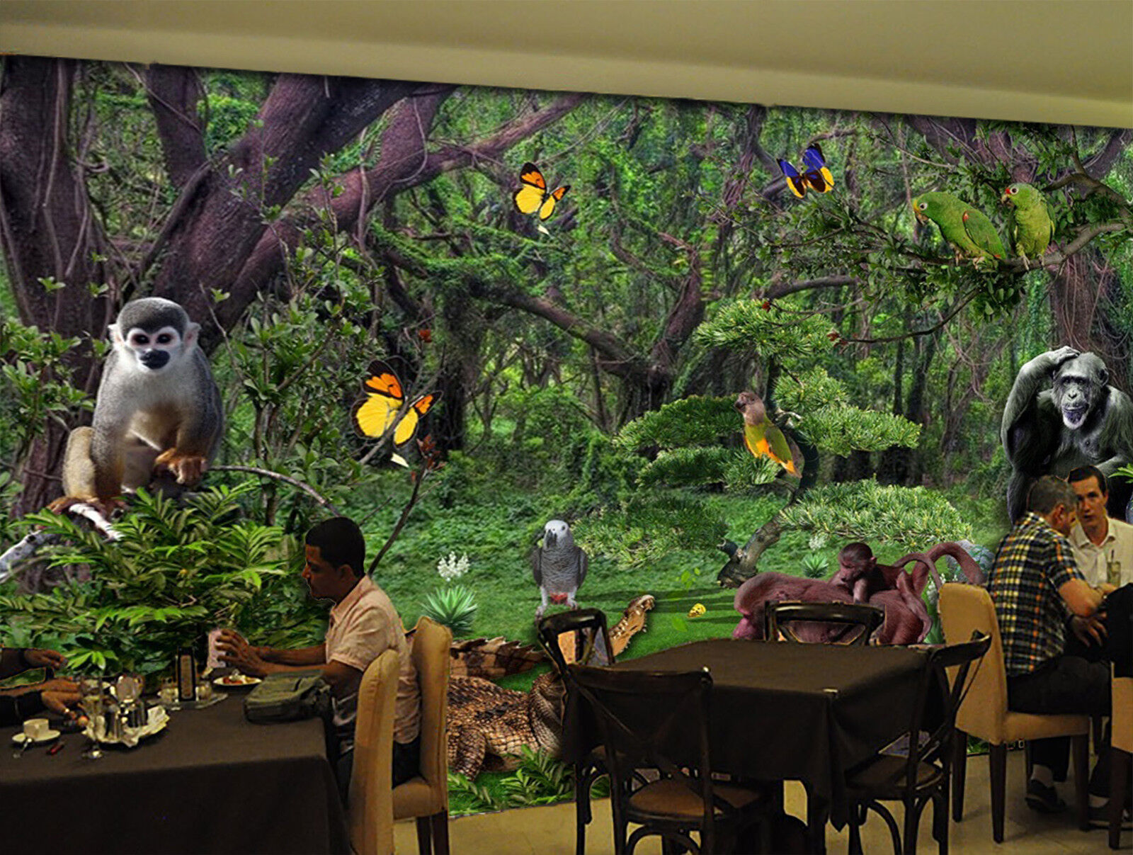 3D Jungle Animals 838 Wallpaper Mural Paper Wall Print Wallpaper Murals UK