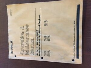 Details about CATERPILLAR CAT 3114 3116 3126 ENGINE INDUSTRIAL MAINTENANCE  MANUAL OPERATION