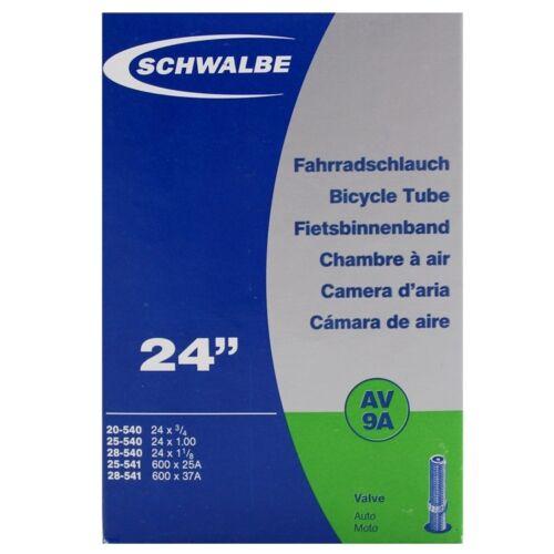 Schwalbe AV9A Wheelchair Inner Tube 24 x 1.00-40mm Schrader Valve
