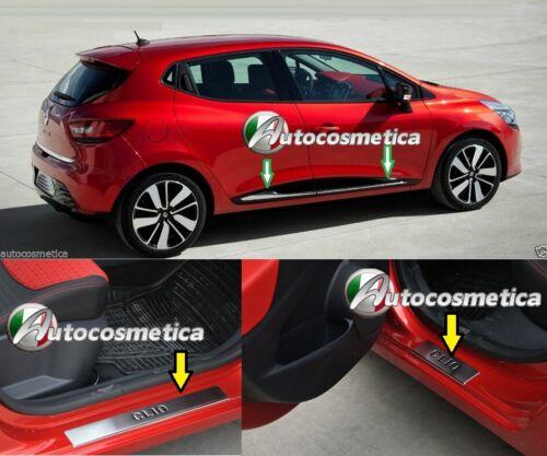 Modanature Sagomate 4 Porte 4 Battitacco in acciaio Renault CLIO 4 IV 12-19