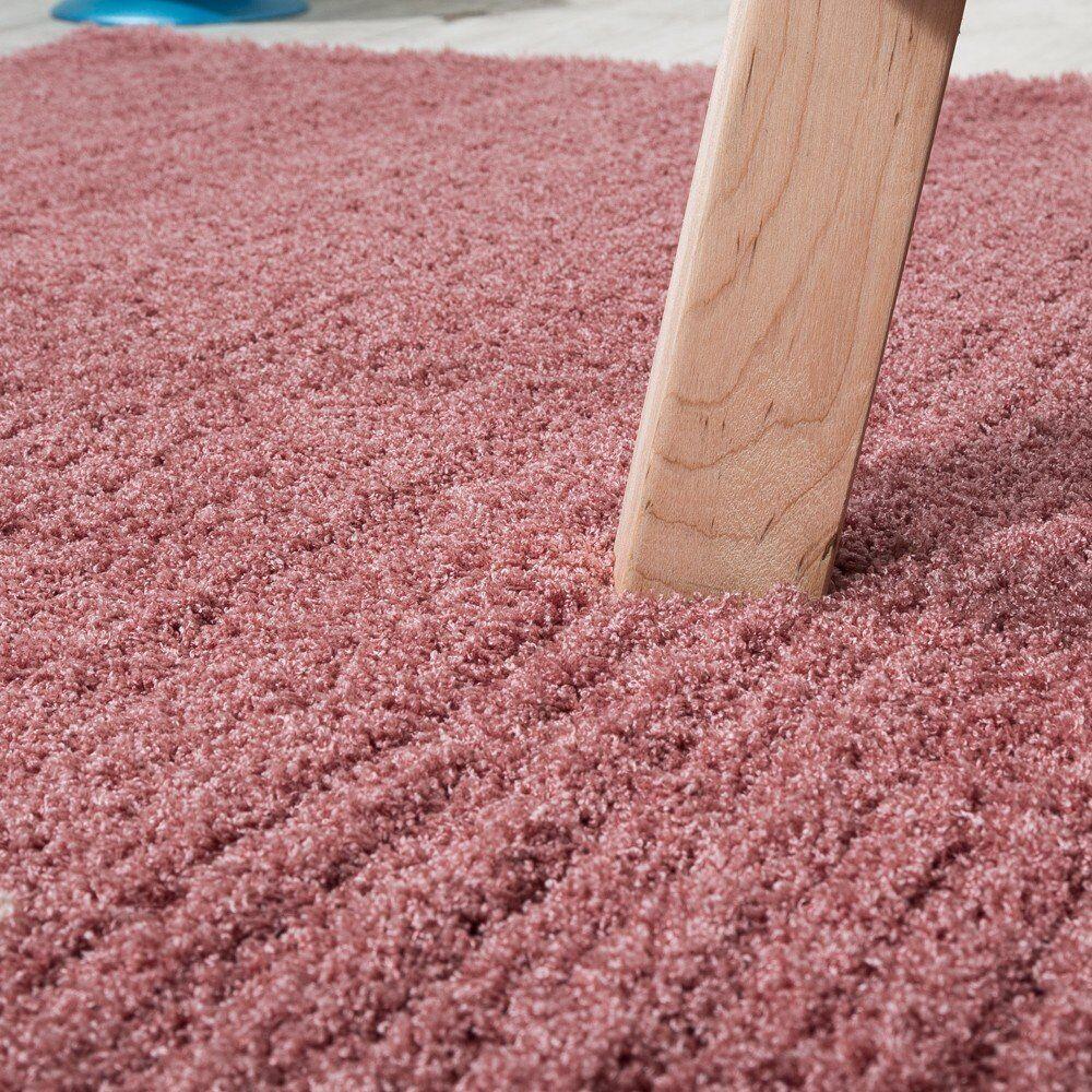 Rose poudrée Tapis Shaggy Dusty Pink Haute Pile Shaggy Tapis Super Doux Chambre Tapis Petit Large XL 0d52c0