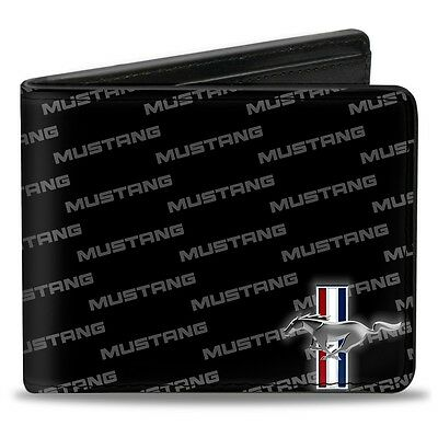 Leather style PU Ford Mustang logo billfold wallet - great xmas gift!