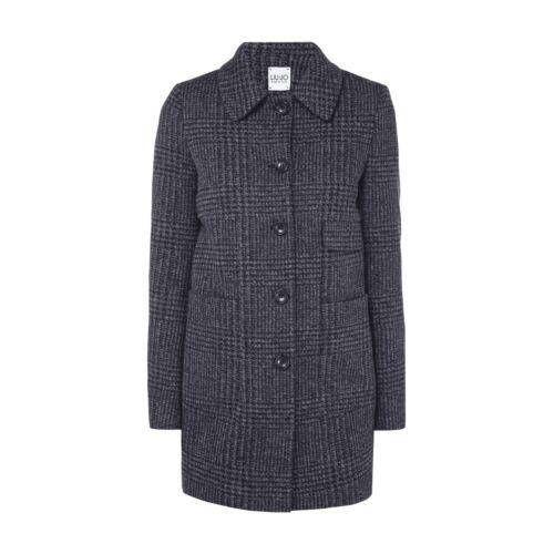 Liu Jo Jeans Mantel mit Allover-Muster Damen Jacke Flanell NEU Größe 44