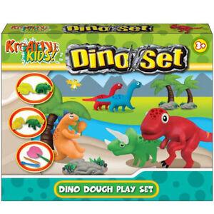 Dinosaur-Dough-Play-Set-Dino-Doh-Tubs-Modelling-Kit-Boys-amp-Girls-Creative-Toys