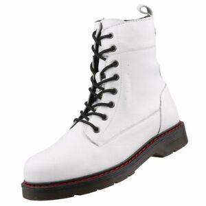 Details zu Neu MUSTANG Damenschuhe Damen Stiefel Springerstiefel Lederstiefel Booty Schuhe