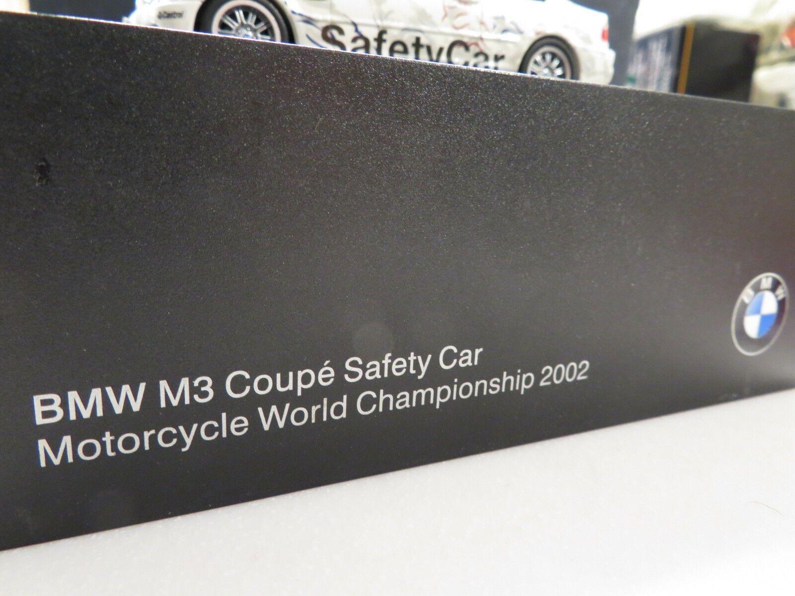 1 43 Minichamps BMW M3 (E46) 2002 Campeonato Mundial de Seguridad Motocicleta Auto