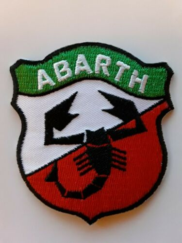ABARTH ITALIAN FAIT SCORPION MOTORSPORT RACING CAR EMBROIDERED PATCH UK SELLER