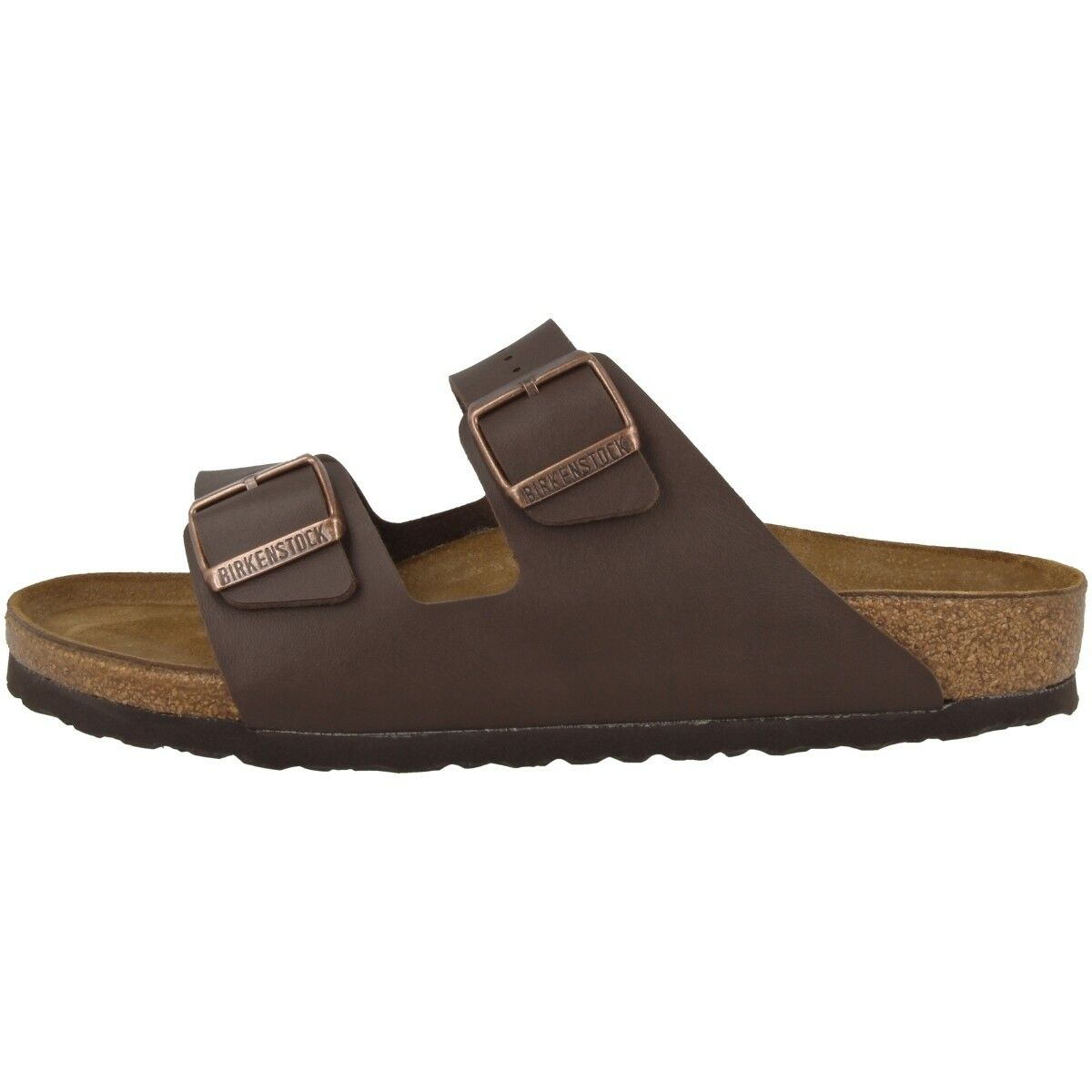 Birkenstock arizona Birko-flor zapatos dark brown 051701 ancho sandalias normal