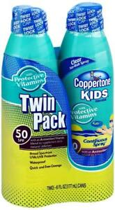 b8cc1dc91703e Coppertone Kids Continuous Spray SPF 50 Twinpack- 6oz   eBay