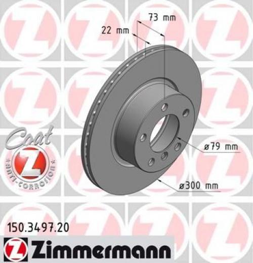 Zimmermann2x Bremsscheibe Sport-Bremsscheibe Coat Z Vorne 150.3497.52
