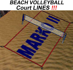 Image Is Loading Beach Volleyball Lines Training Tournament Court Boundary Field