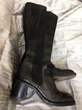 Free Lance Black Leather Boots EU 35.5 Uk 2 1/2 -3