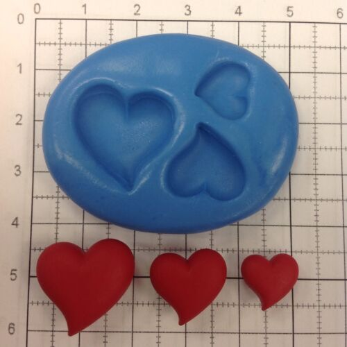 Moule silicone LOVE HEARTS Mariage Mariage Valentines romantique cup cake topper