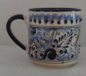 f31e61935e7 Details about Puebla La Hacienda Mexico Ceramic Coffee Mug Mexican Pottery  Color Blue