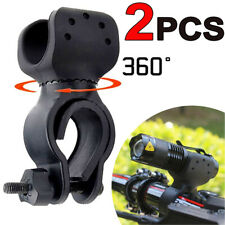 2X Multi-function 360° Bicycle Bike Mount Clip Clamp LED Flashlight Torch Holder