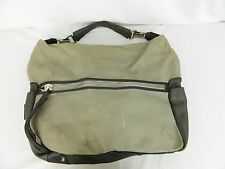 Gianfranco Ferre Distressed Green Canvas Large Hobo Bag Purse Women's Men's