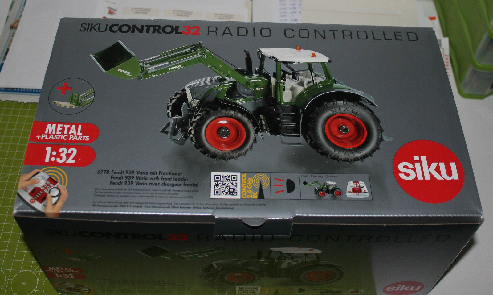 Siku Control 32 Fendt Vario Vario Vario 939 avec FRONT Chargeur Set 6778 avec neuf dans sa boîte-Produit Neuf   Stocker  2baebc