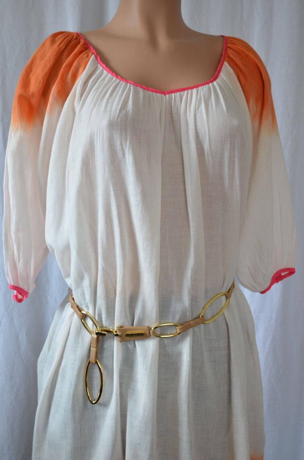 CHRISTOPHE SAUVAT Cotton Tunic Beach Dress Size S