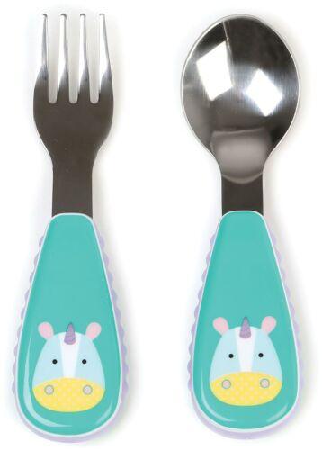 Skip Hop Zootensils tenedor y una cuchara-Unicornio Niño Alimentación cubiertos BN