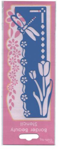 Crafts Too//Border//Beauty//Metal//Stencil//Emboss//Flower//Tulip//Dragonfly//B102B