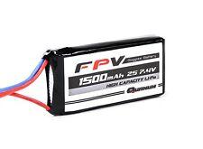 Quanum FPV Headset Battery 7.4V 1500mAh 3C 5.5mm Socket Fatshark Boscam Skyzone