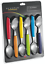 New SCANPAN SPECTRUM 6pc Table Spoon Set Coloured 6 piece,Best Price RRP $39.95