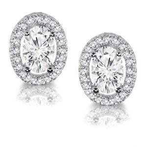 Klar-Oval-Kuenstlicher-Diamant-Halo-Sterling-Silber-Ohrstecker