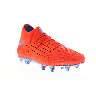 Puma Future 19.1 Netfit Fg Ag Mens Red Textile Athletic Soccer Cleats Shoes