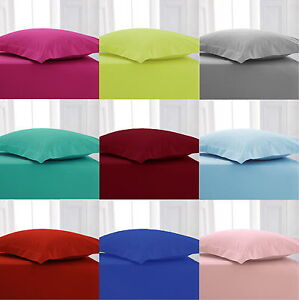 Image Is Loading Percale Fitted Bed Sheets Hotel Quality Bed Linen