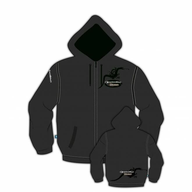 Garbolino Full Zip  Hooded Sweatshirt, M size, Grey, quality item, FREE UK P&P  selling well all over the world
