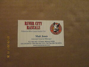 River city rascals assistant gm logo baseball business card ebay image is loading river city rascals assistant gm logo baseball business colourmoves