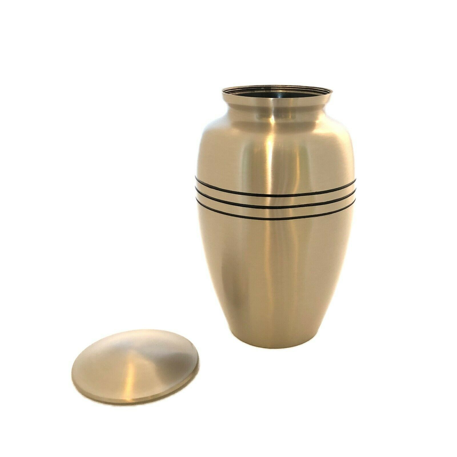 Well Lived™ Brass Engraved Band Adult Cremation Urn for human ashes