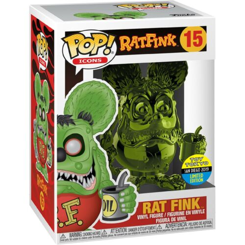 Funko Pop Vinyl Rat Fink Green Chrome SDCC Exclusive Figure #15