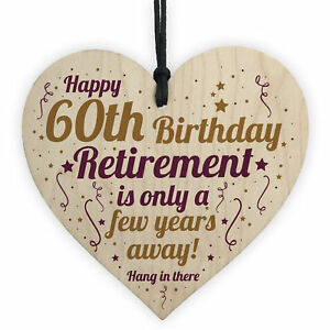 Image Is Loading Funny 60th Birthday Card Wooden Heart