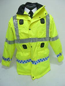 Ex-Police-Waterproof-amp-Breathable-Hi-Viz-Jacket-Coat-with-Liner-amp-Hood-F1-MU01
