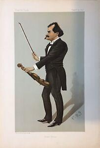 Original-Vanity-Fair-Print-1895-Eduard-Strauss-Violinist-Music-Musician
