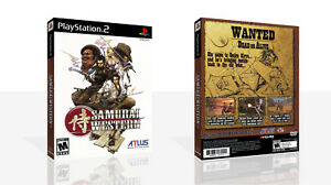 Samurai-Western-PS2-Reproduction-Spare-Game-Case-Box-Cover-Art-Work-No-Game