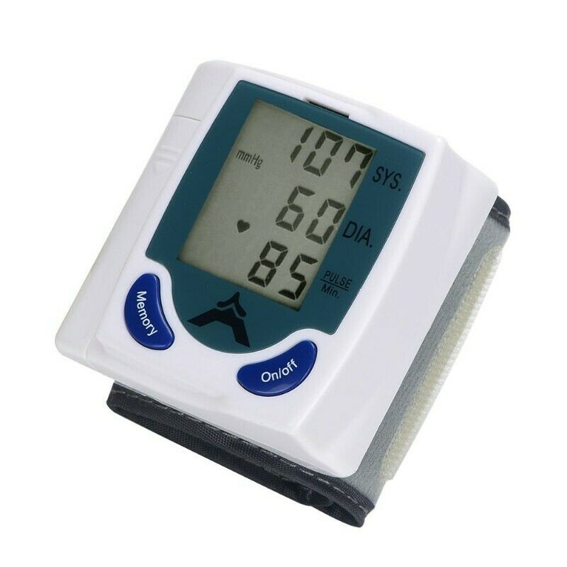 Digital Wrist Blood Pressure Monitor With Memory Function