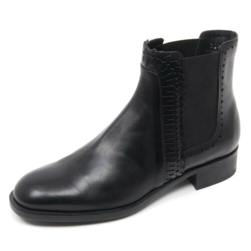 Basso Nero Tod's Beatles Scarpa Woman Donna Boot B8335 Shoe Tronchetto 4OqwYW5