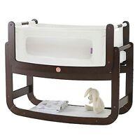 Snuz Snuzpod Bedside Baby Nursery Bedtime Bassinet Crib - 3 In 1 - Espresso
