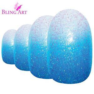 False-Nails-by-Bling-Art-Blue-Gel-Ombre-Oval-Medium-Fake-Acrylic-24-Tips-Glue