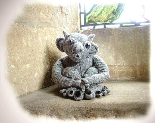 GOSWALD OF GRAVENEY Gargoyle toy knitting pattern  by Georgina Manvell