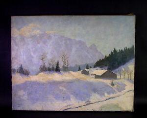 Olgemaelde-Winterlandschaft-MAX-DELLEFANT-1907-Neustadtbergen-1983-Muenchen