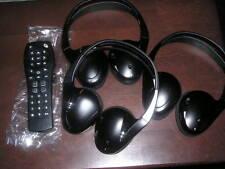 3 NEW GM FOLD FLAT HEADPHONES PONTIAC CHEVY BUICK REAR AUDIO KIT W REMOTE OEM