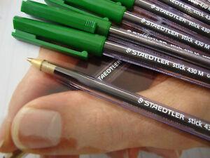 10 Staedtler Ball Point Pens - Green 9doa2bg0-09112435-671233354